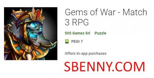 Gemas da Guerra - Match 3 RPG + MOD