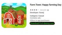 Farm Town: Happy Farm journée et amp; avec jeu de ferme City + MOD