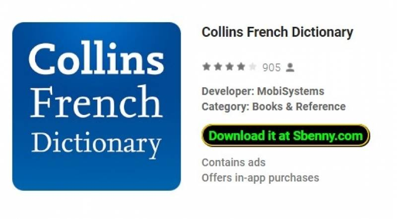 کالینز فرانسه فرهنگ لغت + MOD