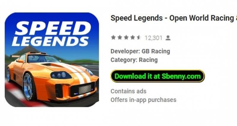 Legends Veloċi - Open World Racing + MOD