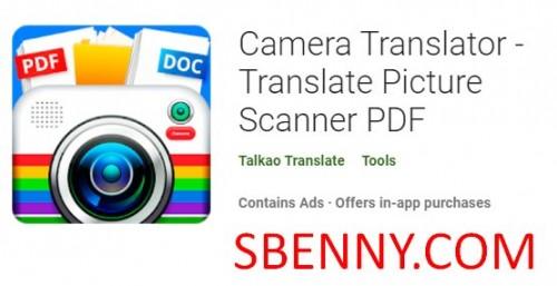 Traducteur de l'appareil photo - Traduire le scanner d'images PDF + MOD