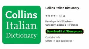 Коллинз Итальянский словарь + MOD