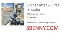Sniper Attack - Jeu de tir gratuit + MOD