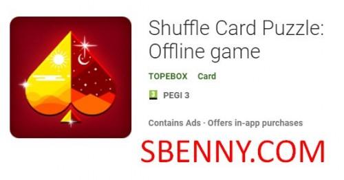 Shuffle Card Puzzle: Offline-Spiel + MOD