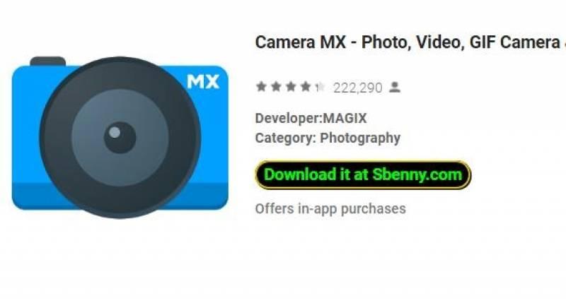 Macchina fotografica MX - Foto, Video, Fotocamera GIF & amp; Editor + MOD