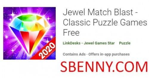 Jewel Match Blast - классические головоломки бесплатно + MOD
