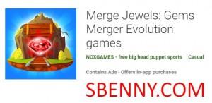 Merge Jewels: Gems Merger Evolution games + MOD