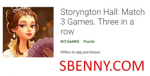 Storyngton Hall : 매치 3 게임. 연속 XNUMX + MOD