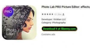 Photo Lab PRO Редактор изображений: эффекты, размытие и amp; искусство + MOD