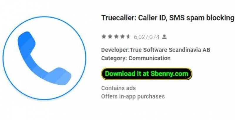 Truecaller: identificador de llamadas, bloqueo de spam SMS y amp; Marcador + MOD
