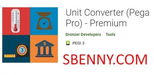 Conversor de Unidades (Pega Pro) - Premium