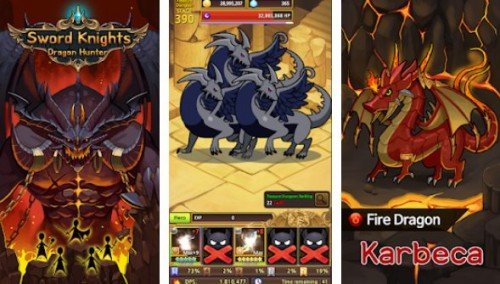 Caballeros de la espada: Cazador de dragones (rpg inactivo)