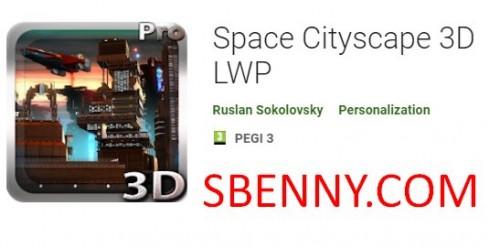 Космический городской пейзаж 3D LWP