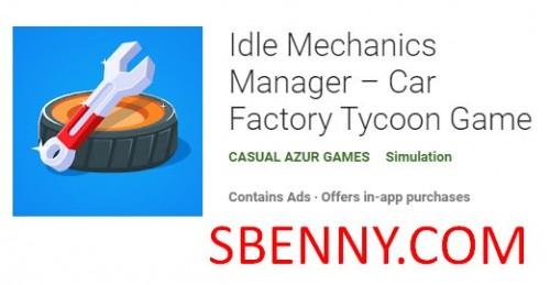 مدیر مکانیک بیکار - بازی کارخانه سرمایه دار Tycoon + MOD