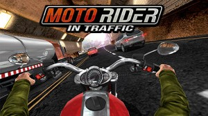 Moto Rider In Traffic + MOD
