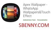 Apex Wallpaper - Sfondi WhatsApp e Touch Effect + MOD