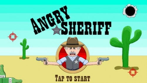 Angry Sheriff - puzzle physique