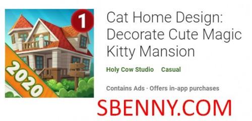 Disinn tad-Dar tal-Qtates: Dekorazzjoni ħelu tal-Kitty Mansion + MOD