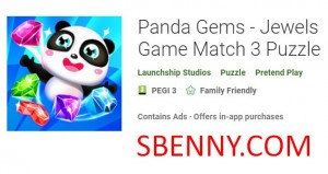 Panda Gems - Juego de joyas Match 3 Puzzle + MOD