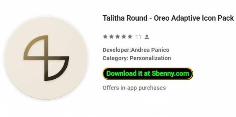 Talitha Round - Oreo Adaptive Icon Pack