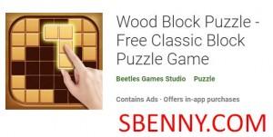 Wood Block Puzzle - Juego de rompecabezas de bloques clásico gratuito + MOD