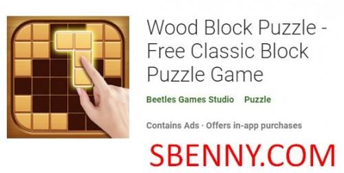 Wood Block Puzzle - بازی پازل بلوک کلاسیک رایگان + MOD