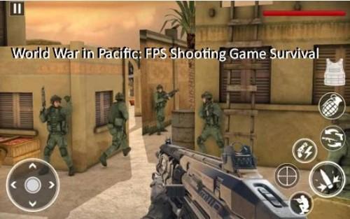 Gwerra Dinjija fil-Paċifiku: FPS Shooting Game Survival + MOD