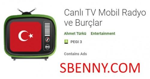 Télévision Mobil Radyo avec Burclar + MOD