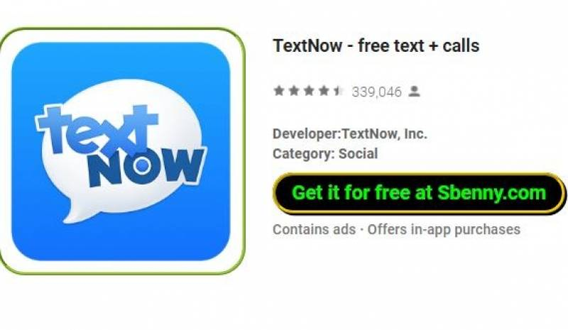 TextNow - texto livre + chamadas + MOD