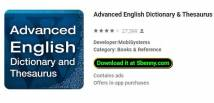 Advanced English Dictionary & amp; Thesaurus + MOD