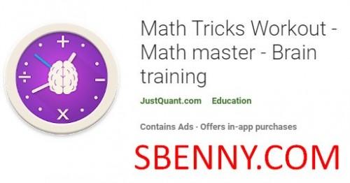 Math Tricks Workout - Mathe-Meister - Gehirntraining + MOD