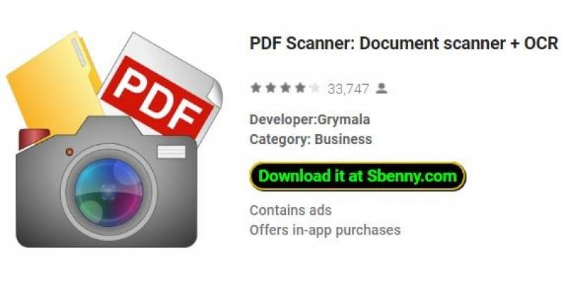 PDF Scanner: Document scanner + OCR Free + MOD
