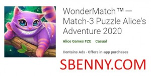 WonderMatch Match-3 Puzzle Alice's Adventure 2020 + MOD