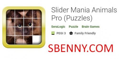 Slider Mania Animals Pro (Puzzles)