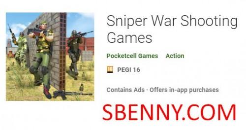 Sniper Gwerra Logħob Shooting + MOD