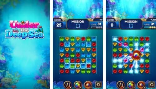Unter der Tiefsee: Jewel Match3 Puzzle + MOD