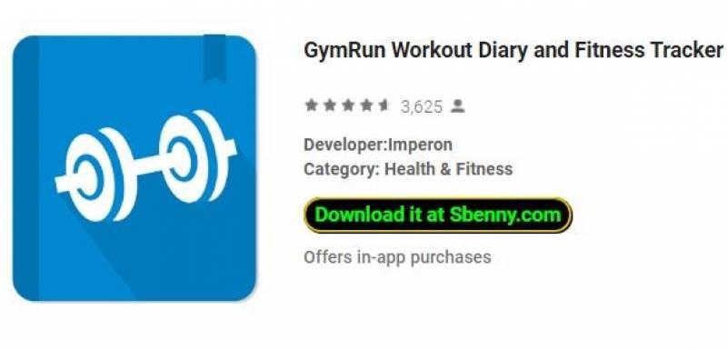Тренировочный дневник GymRun и фитнес-трекер + MOD