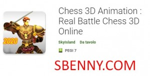 Ċess 3D Animazzjoni: Chess Real Battle 3D Online