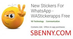Nuevas pegatinas para WhatsApp - WAStickerapps Free + MOD