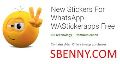 استیکرهای جدید برای واتساپ - WAStickerapps Free + MOD