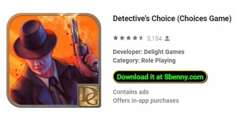 Choix du détective (Jeu de choix) + MOD
