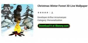 Рождественский зимний лес 3D Живые обои
