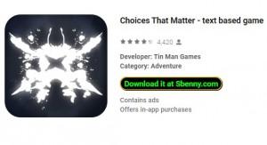 Opciones que importan - juego basado en texto + MOD