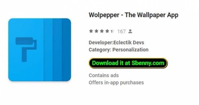 Wolpepper: la aplicación de fondo de pantalla + MOD