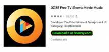 OZEE Free TV Shows Film Musique + MOD