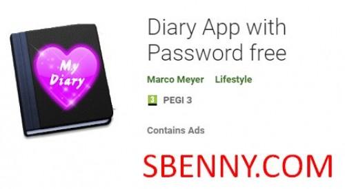 Tagebuch App mit Passwort frei + MOD