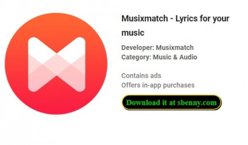 Musixmatch - Lyrics for your music + MOD