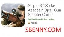 Sniper 3D Strike Assassin Ops - Logħba tal-Isparaturi ta 'Gun + MOD
