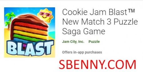 Cookie Jam Blast New Match 3 پازل حما بازی + MOD