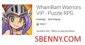 WhamBam Warriors VIP - Puzzle RPG